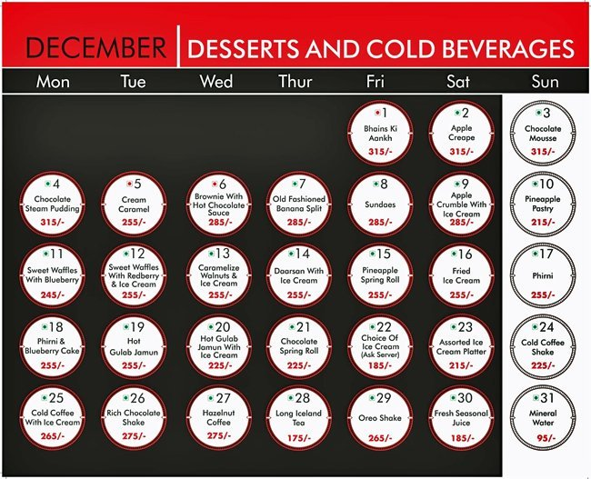Warehouse Cafe Menu Connaught Place 12