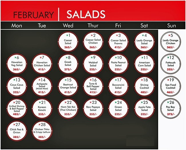 Warehouse Cafe Menu Connaught Place 2
