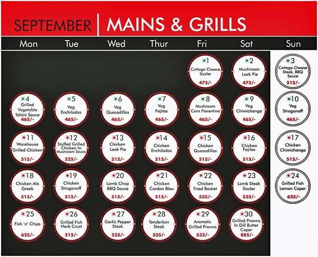 Warehouse Cafe Menu Connaught Place 9