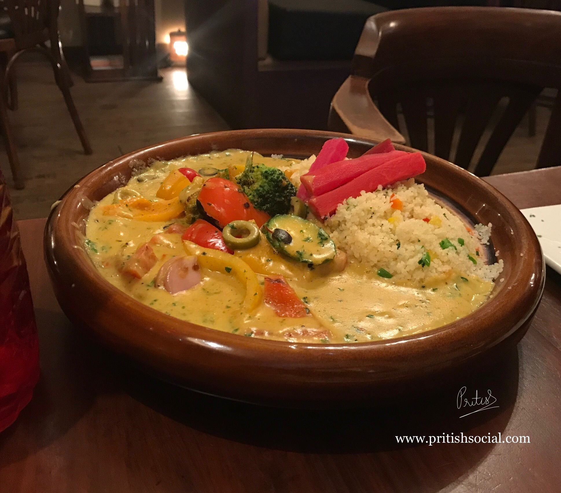 Café Nomad Chandigarh | Best Middle Eastern Restaurant | Casablanca Cous Cous with Roasted Summer Vegetables Tangine 1 | Food Blog | PritishSocial
