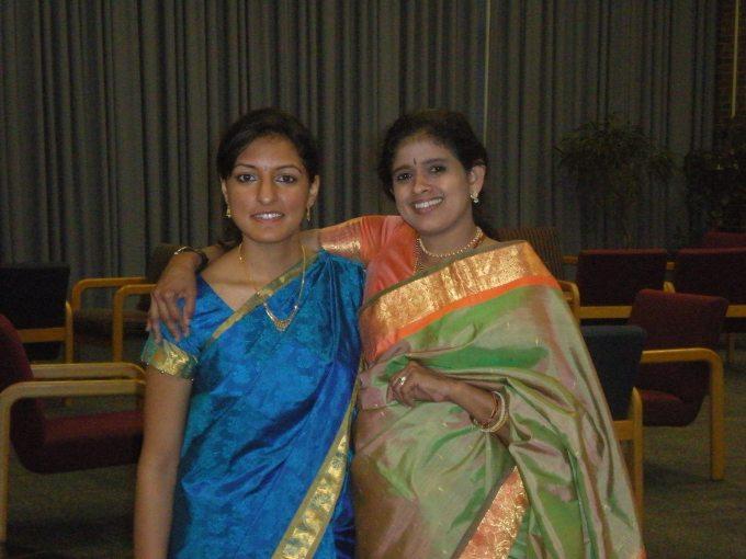 Rasika Shekar alongside Dr. Bhavani Rao, her guru.