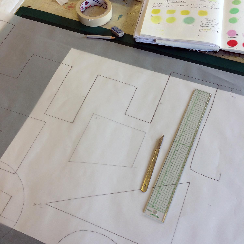 Michelle_House_studio shot_stencil cutting_London Craft Week_201