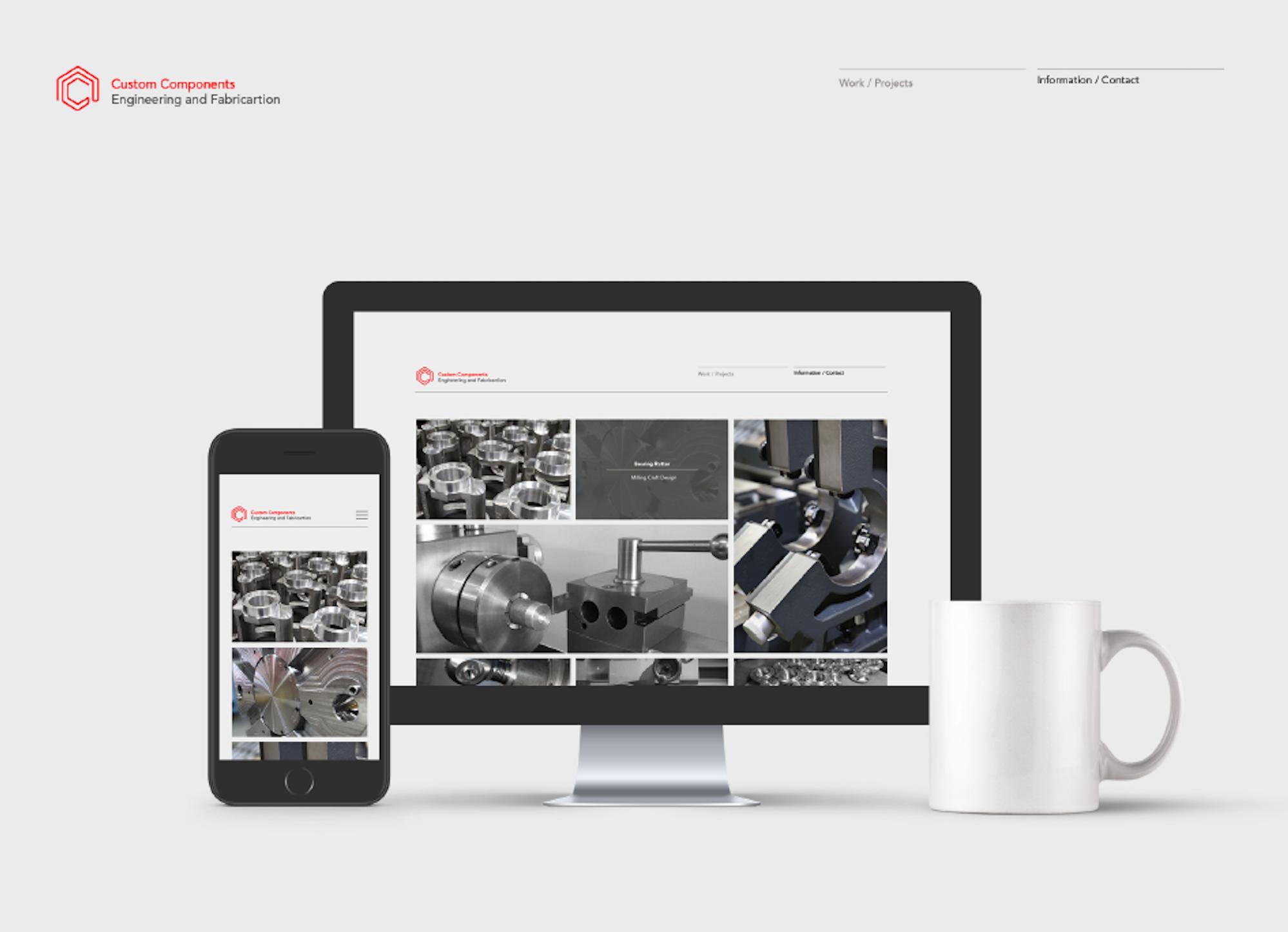 Custom Components Engineering  Website and branding
