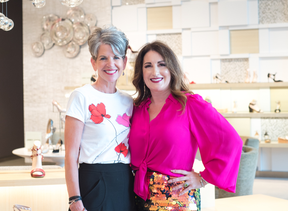 Sally Schule SMHF Director of Community Engagement and Terri Najmolhoda Sacks Fifth Avenue VIP and general Manager Photo courtesy by Carlla Juffo