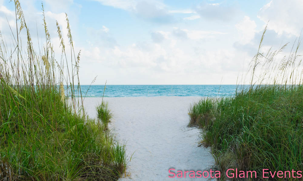 A secluded beach in Sarasota, Florida. Perfect for eloping or a small, intimate wedding.