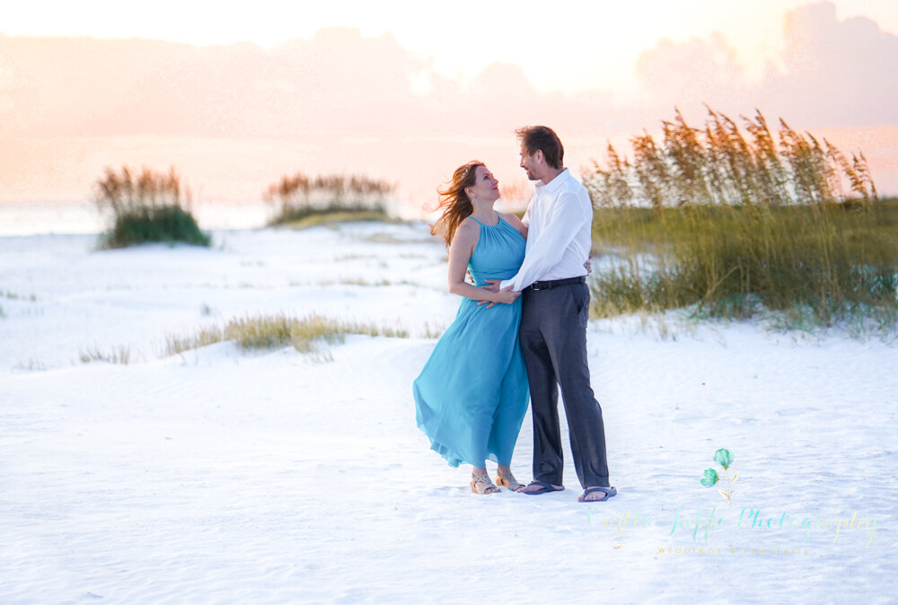 A Wedding Elopement on Siesta Key Beach. Grace and Romance just the Two of You.