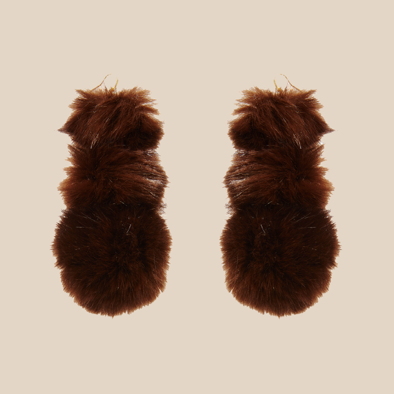 Chocolate Puss Puss Earrings