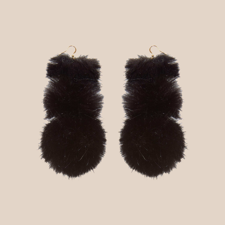 Noir Puss Puss Earrings