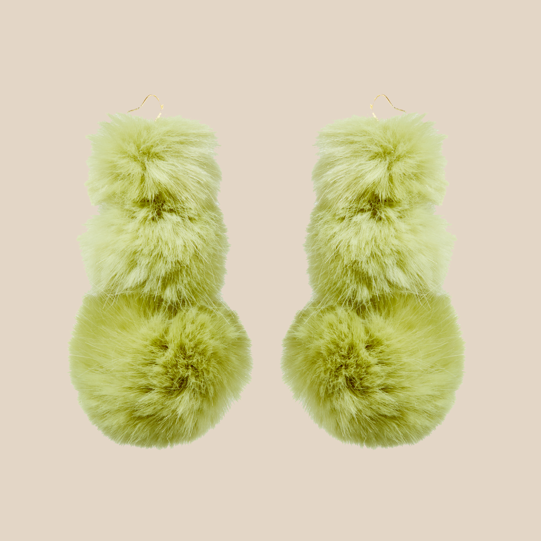 Pistachio Puss Puss Earrings