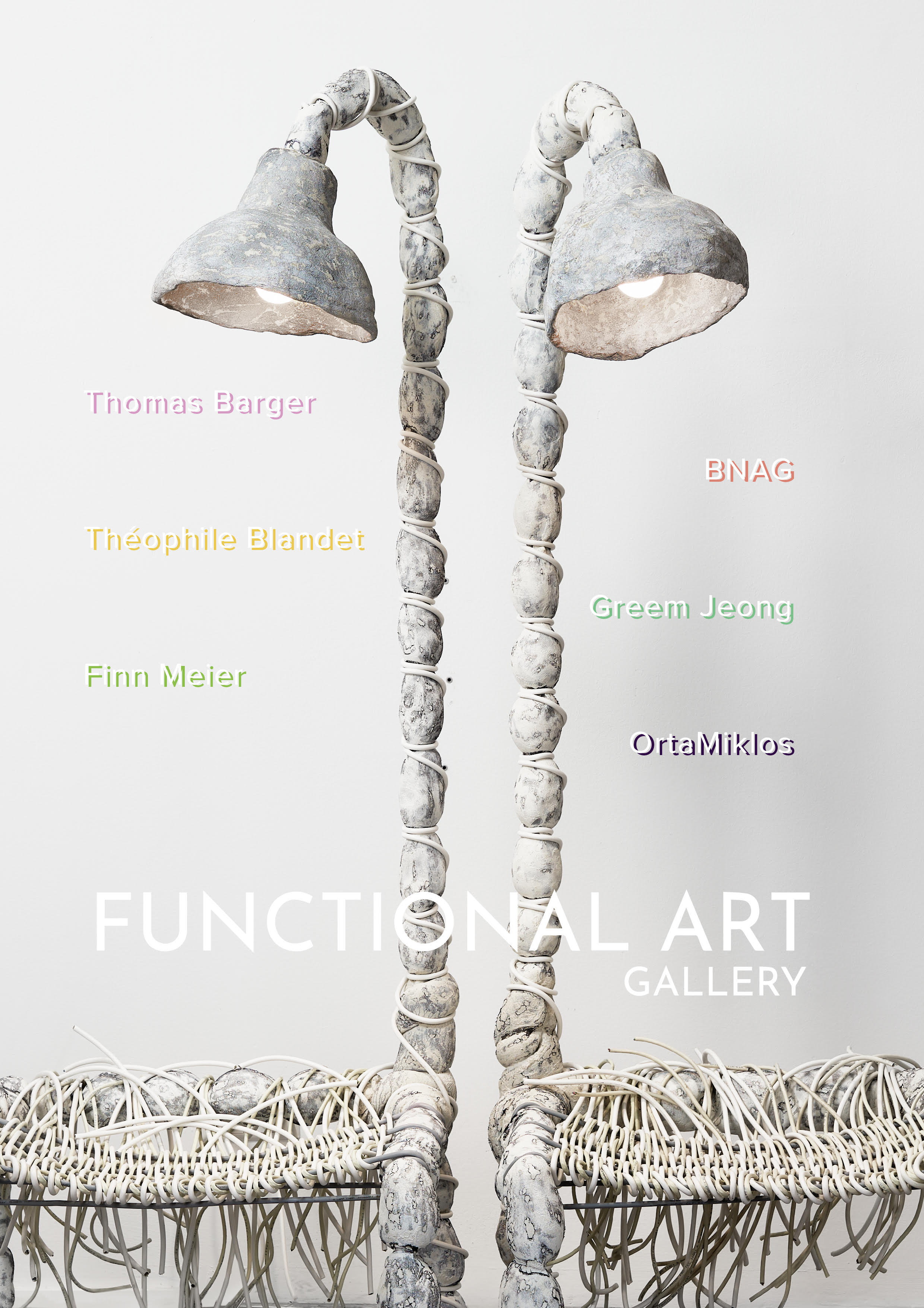 """Functional Art opens September 13th   Join us at Genthiner Straße 36 in Berlin for our inaugural exhibition : """"Functional Art""""  With works by:  Thomas Barger  Théophile Blandet  BNAG  Greem Jeong  Finn Meier  OrtaMiklos"""