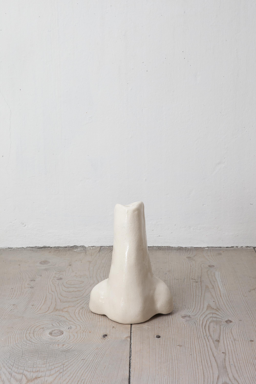 - Blumennase 10, 2019Nose Vase - Terracotta, transparent glaze25 x 18 x 10.5 cm (10 x 7 x 4 in)