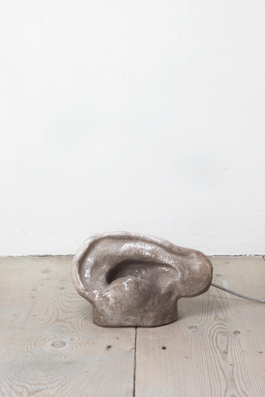 - Ohrenlampe, 2019Ear Lamp - Terracotta, transparent glaze18 x 30 x 15 cm (7 x 12 x 6 in)