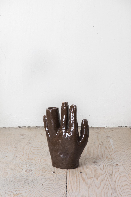 - Blumenhand, 2019Hand Vase - Terracotta, transparent glaze26.5 x 19.5 x 10.5 cm (11 x 8 x 4 in)