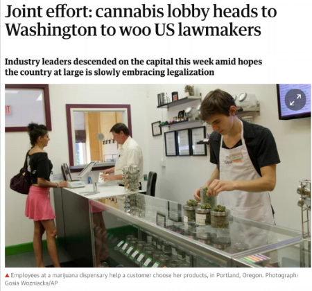 """""""There's an air of legitimacy around our group that makes me hopeful that the stigma is going to fall away,"""" said Blake Mensing, a cannabis attorney from Massachusetts who helps clients obtain local permits and state licenses for adult use cannabis businesses.   https://www.theguardian.com/society/2018/may/24/cannabis-industry-lobby-washington-legalization"""