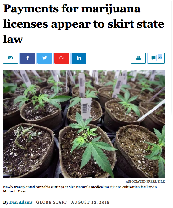 """""""But Blake Mensing, an attorney who represents marijuana operators, said additional payments — including even donations to third-party nonprofits — shouldn't be allowed if they're required in the same contract granting local approval. Otherwise, he said, smaller companies will be frozen out.  'There is some gray area to navigate,' Mensing said, 'but I think the commission is making it harder than it needs to be. Up to 3 percent for no longer than five years is, honestly, a model of statutory clarity.'""""   https://www.bostonglobe.com/metro/2018/08/22/cannabis-officials-doubted-there-was-problem-but-any-local-marijuana-contracts-follow-law/mCCoIEALIev2QEOQv0bpEO/story.html"""