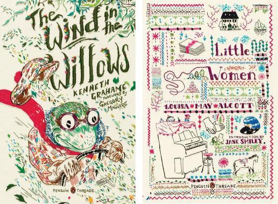 這系列經典文學採用刺繡插畫的書封設計