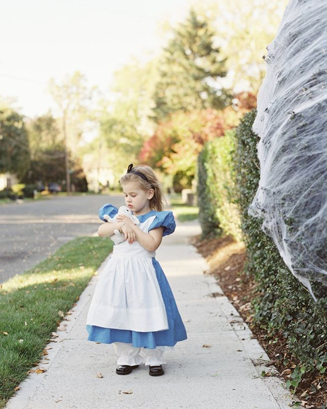 Halloween Portrait Project. Alice and her white rabbit, photographed #onfilm. @dianajankovsky