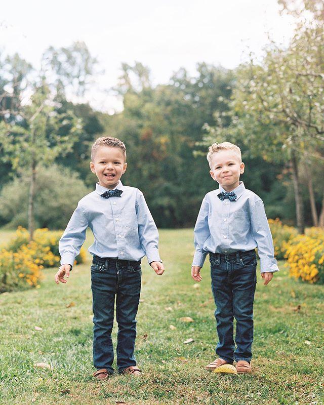 Twins, #onfilm. Family portrait season has begun 💕