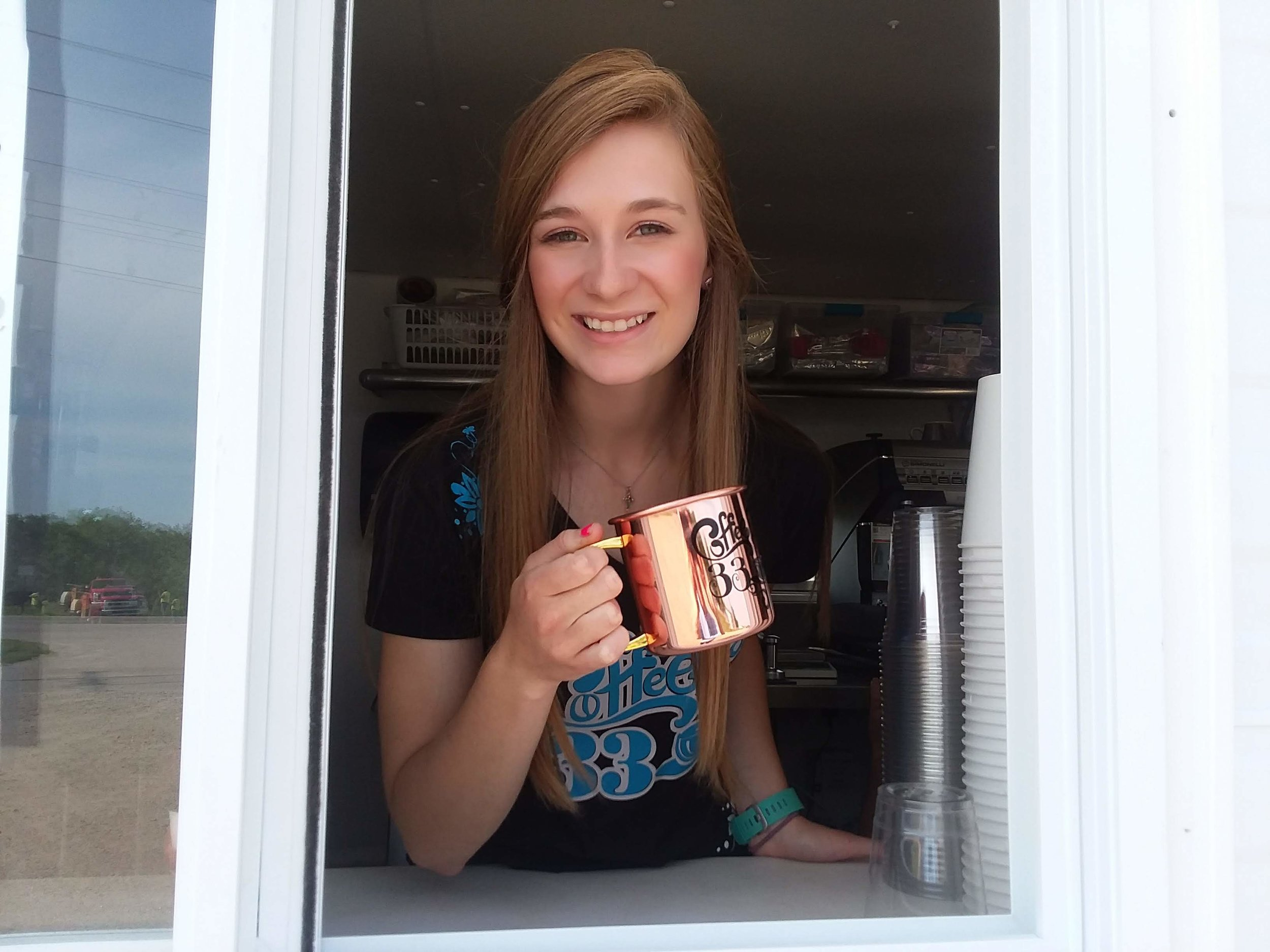 Ashley Ladwig opened her business Coffee 33 in May of this year