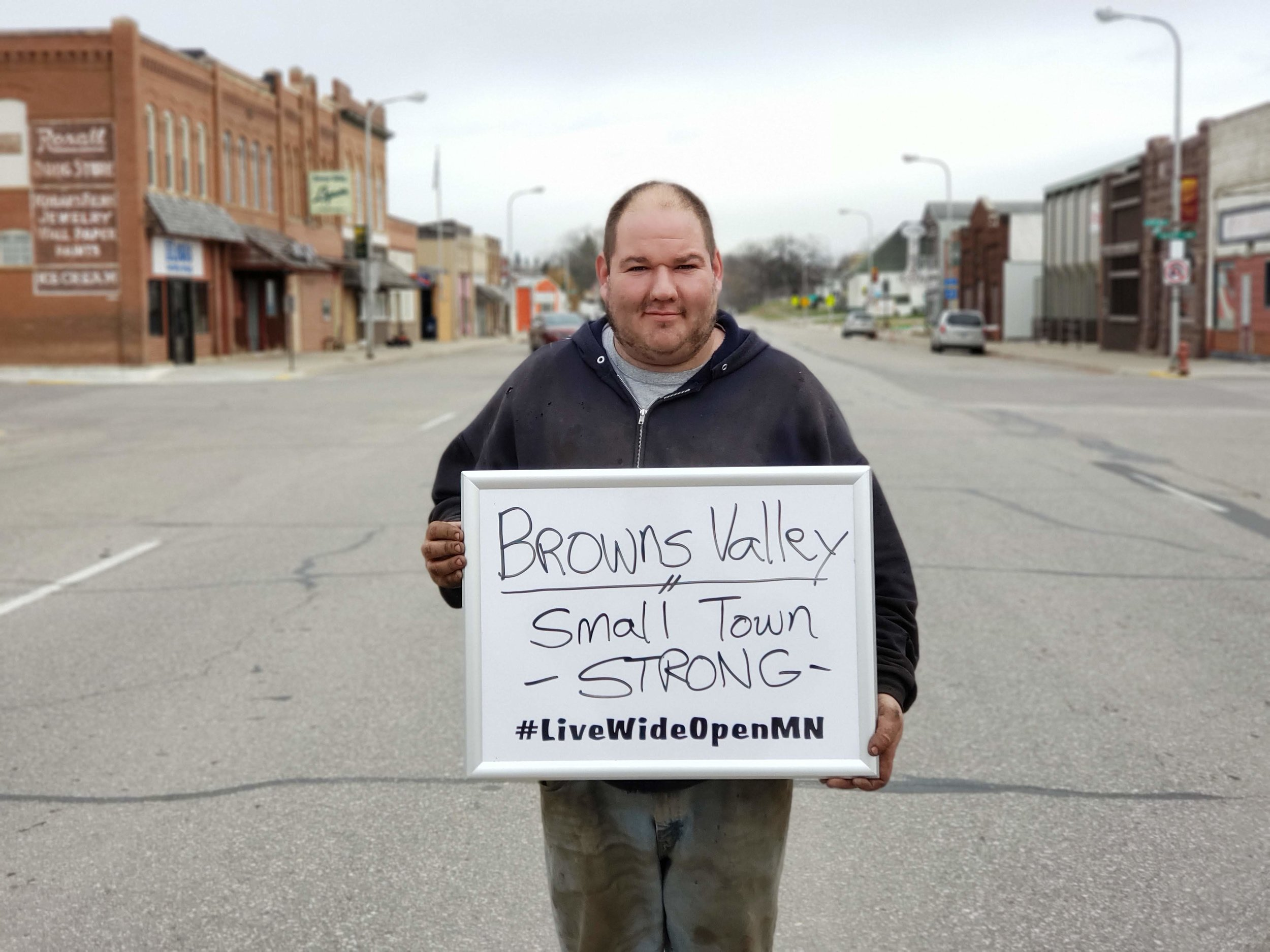 Browns Valley city council member Tony Miller invites entrepreneurs to find a home in one of the classic downtown buildings!