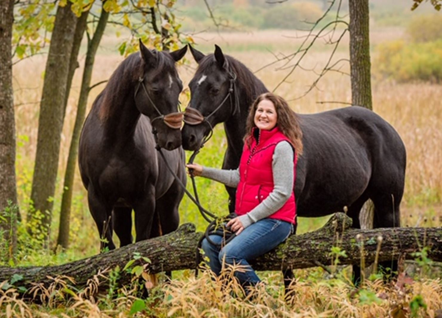 Michelle with a couple family members! Photo courtesy of  Galloping Dreams Photography .