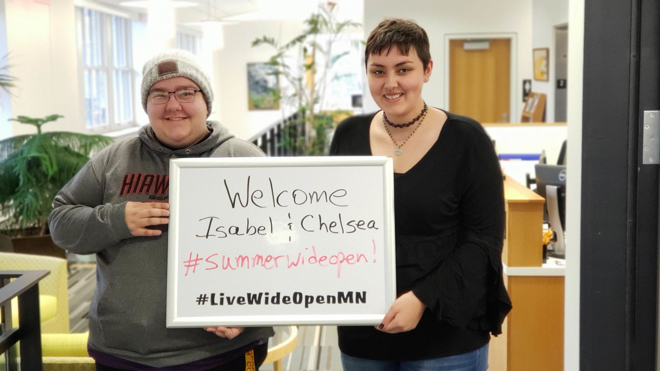 Chelsea (left) and Isabel are Live Wide Open summer interns!