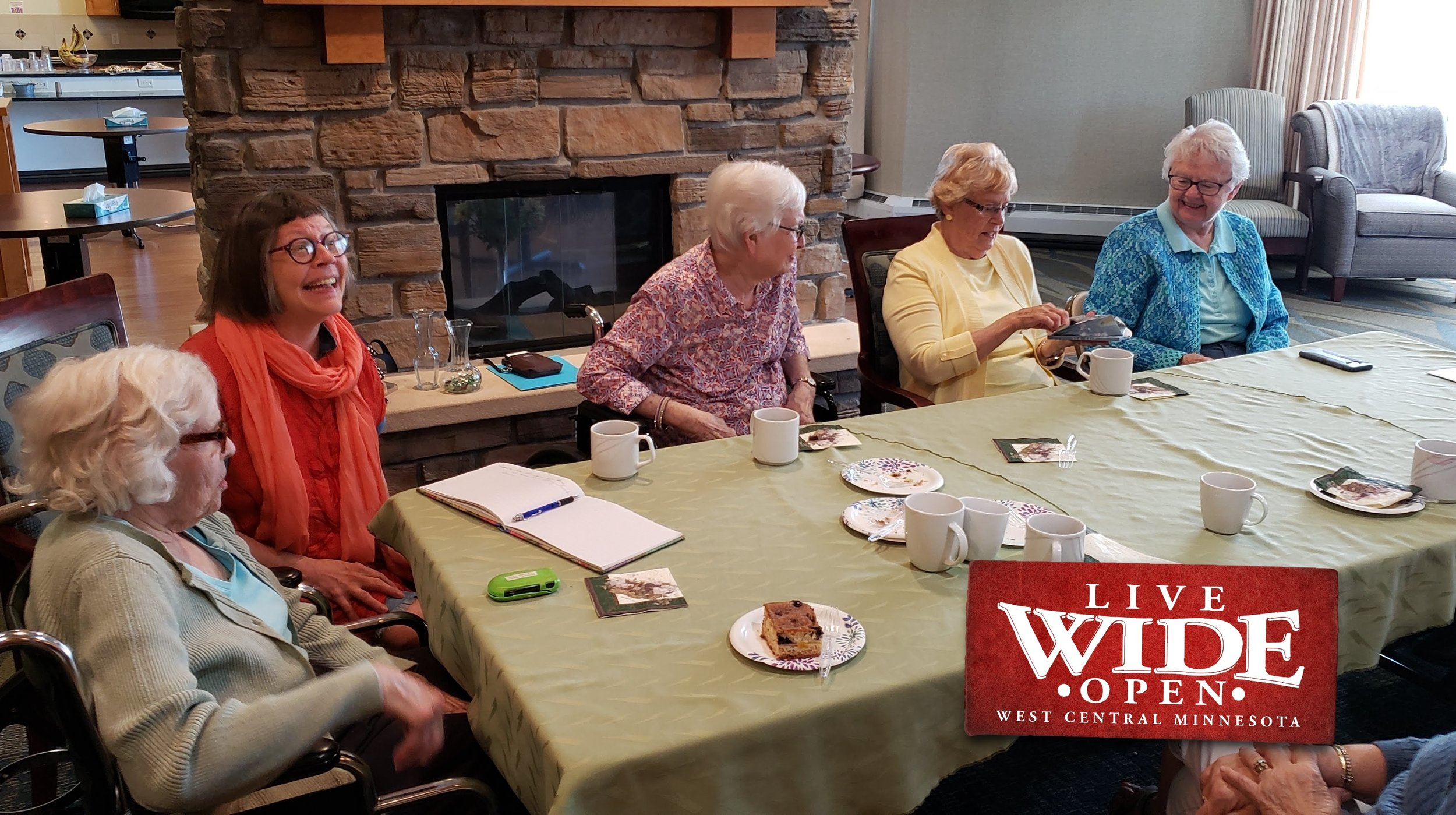 Why not bring coffee hour to the people, rather than bringing the people to the coffee? When friends ended up in assisted living, it was easier to gather there.