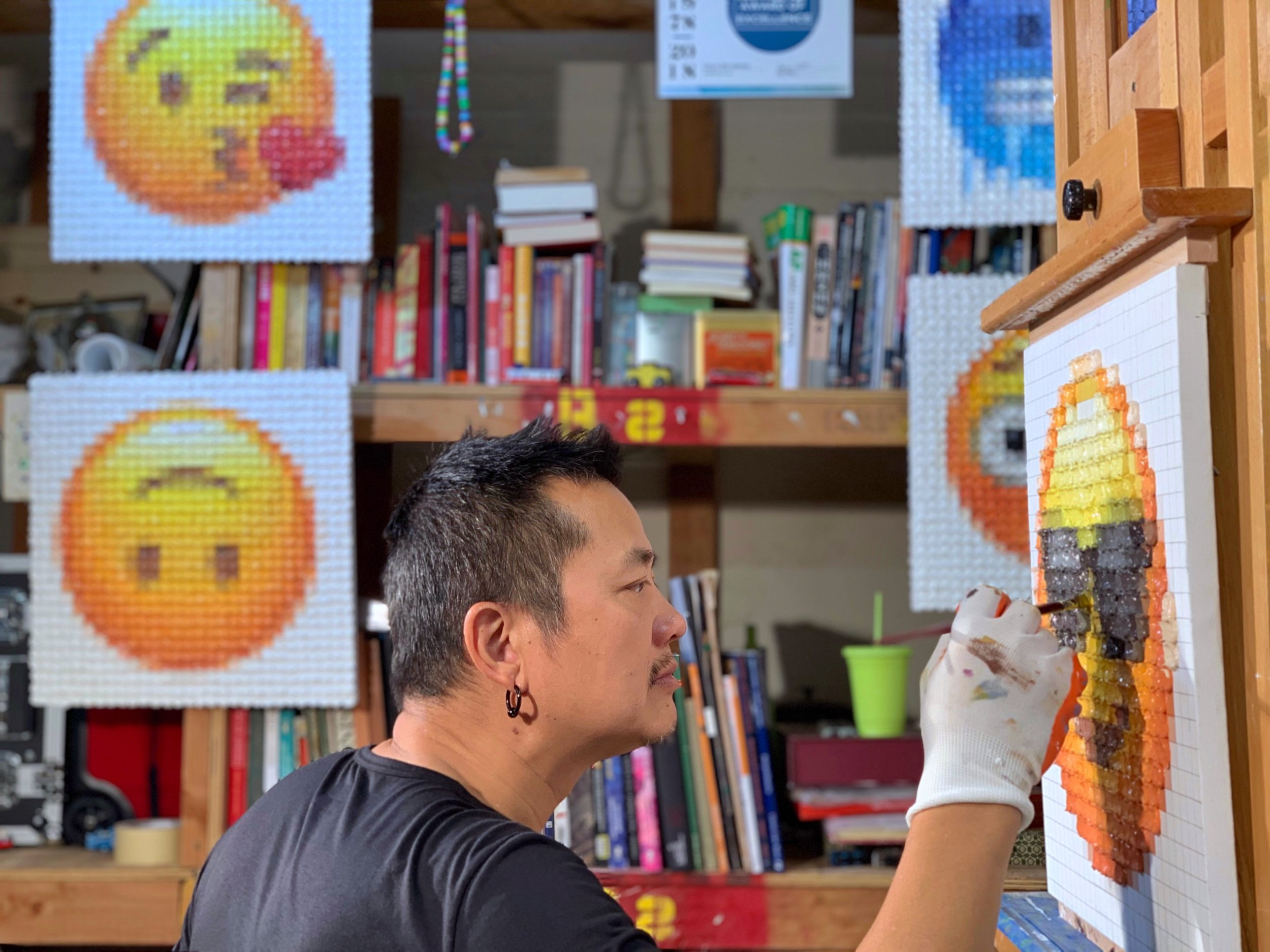Working on emoji series in 2018