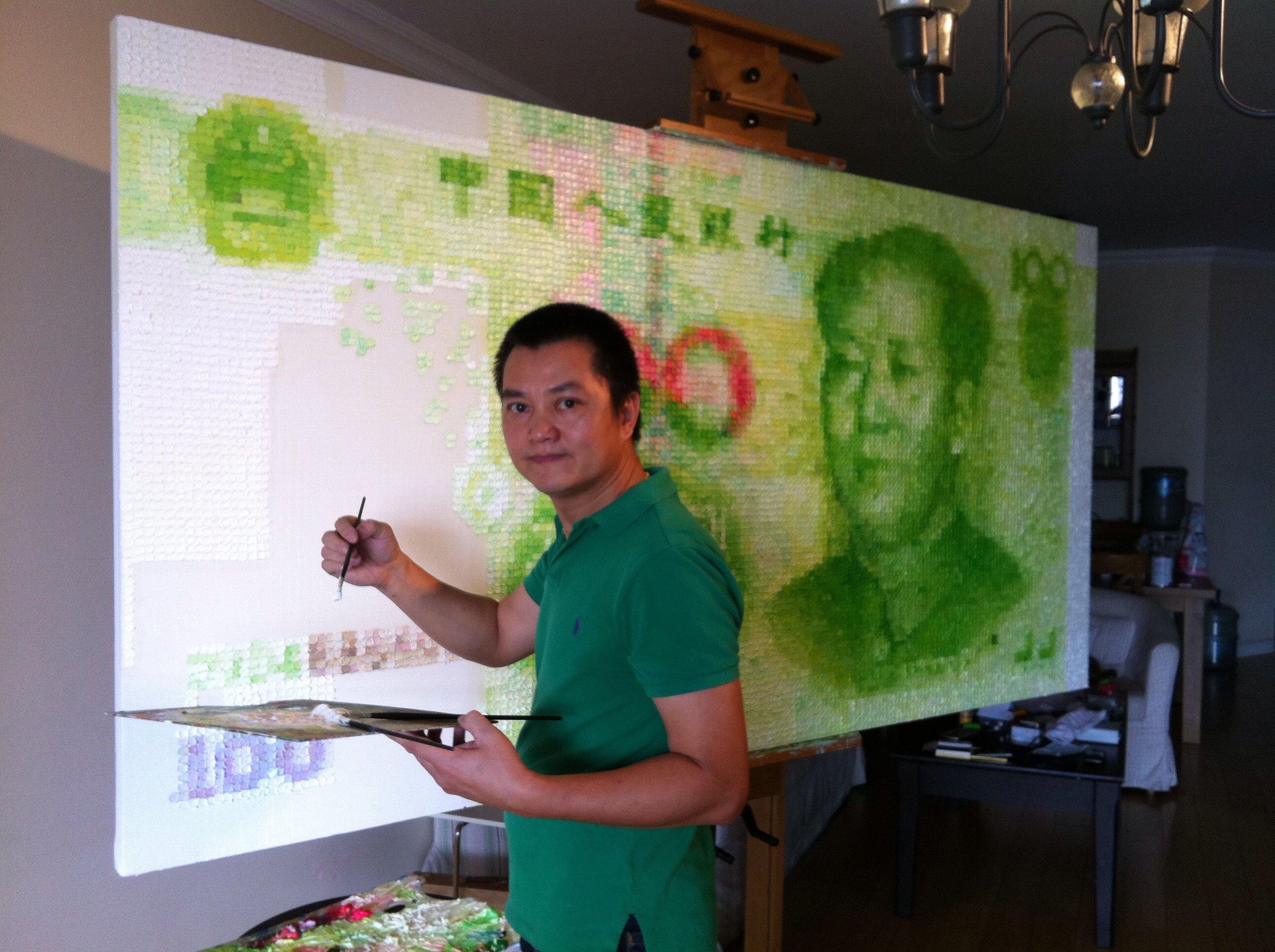 Working on RMB #4, Beijing, 2012