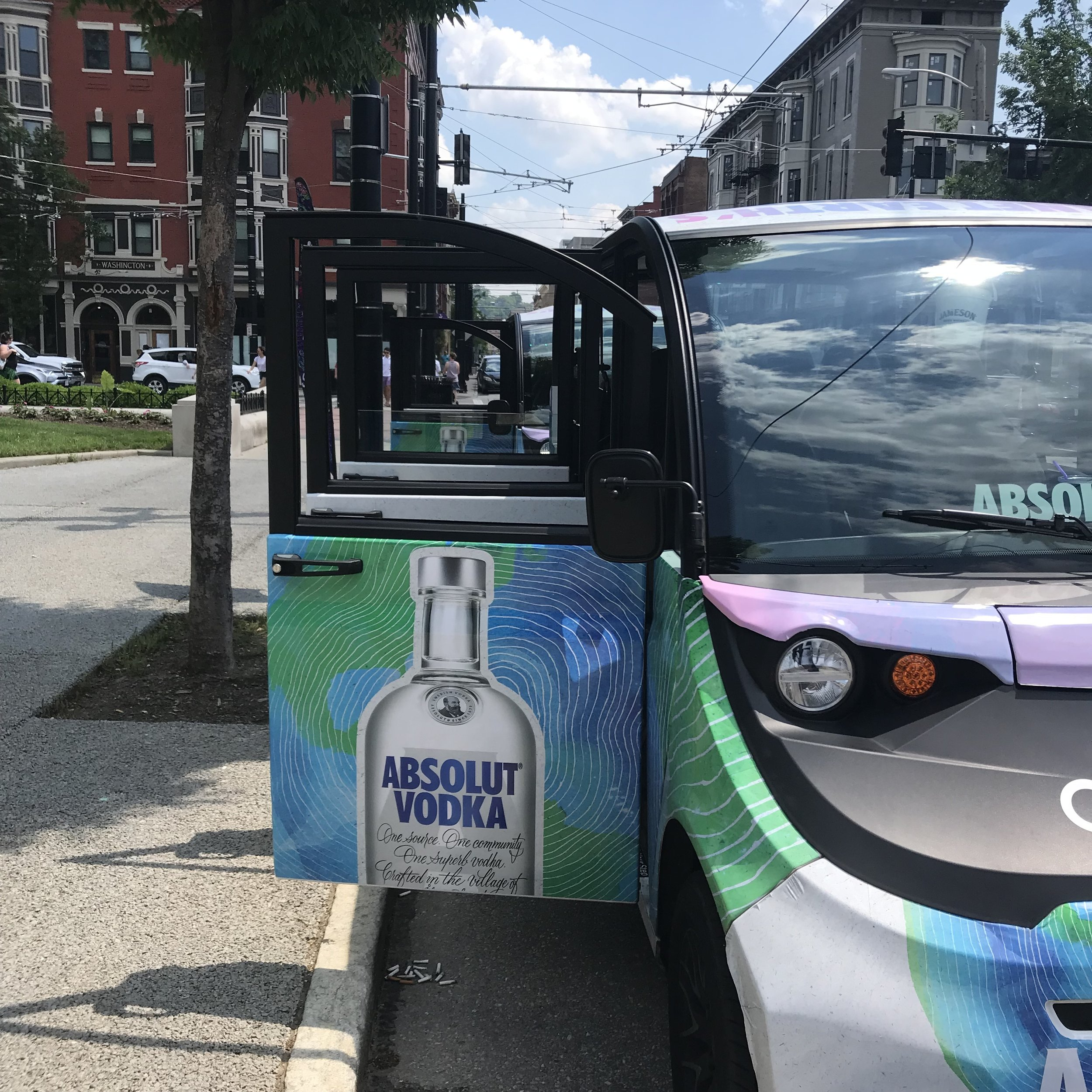 Rides await City Flea and Summer Celebration visitors thanks to our sponsor, Absolut.