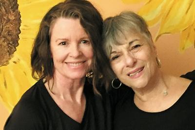 L, Leslie Snow and R, Susan Blacker
