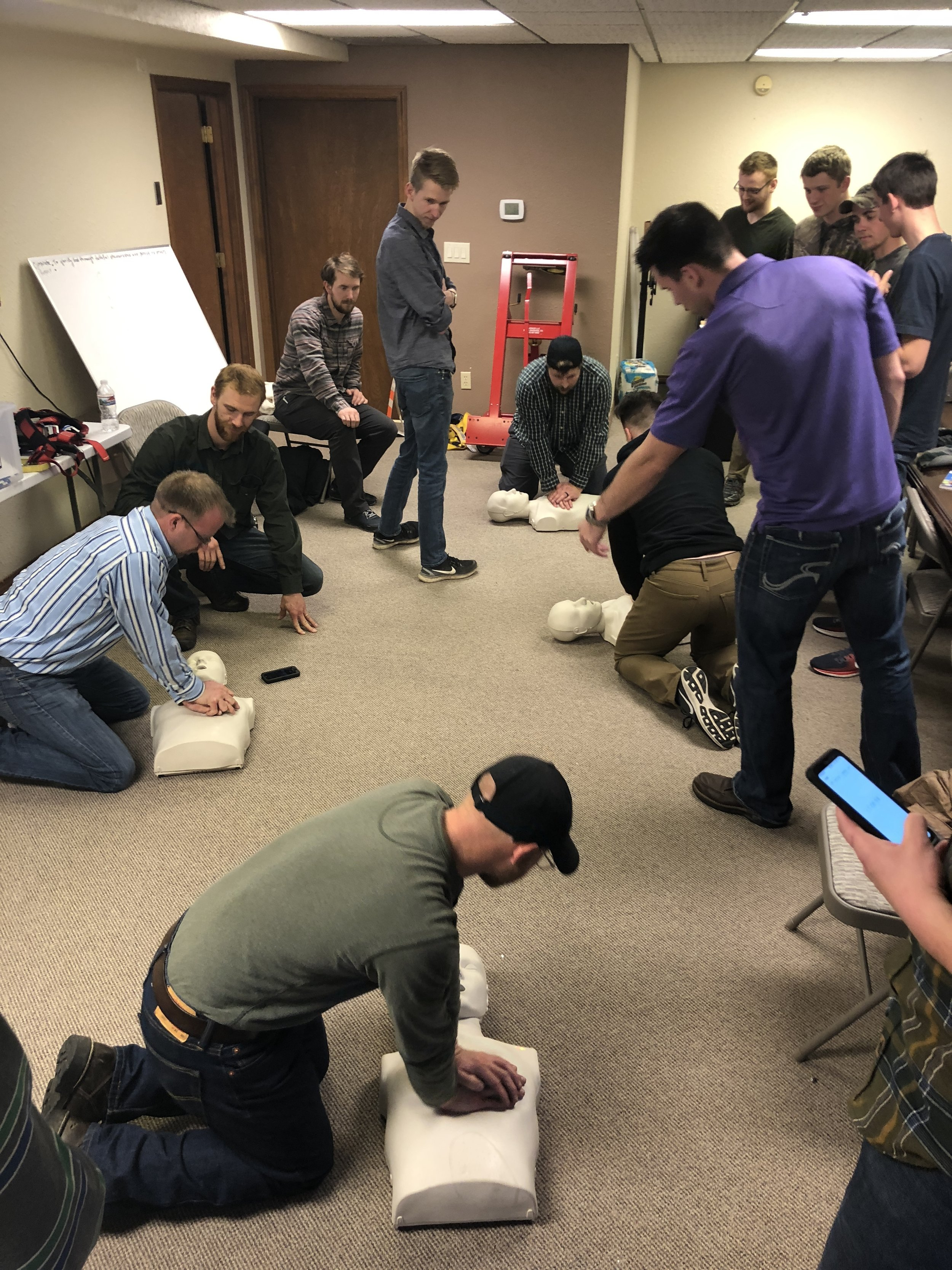 Our Technicians are First Aid and CPR certified.