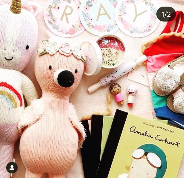 @kelseyklos one our favorite mammas! Such fun birthday gifts included here @dixieandbee @cuddleandkind
