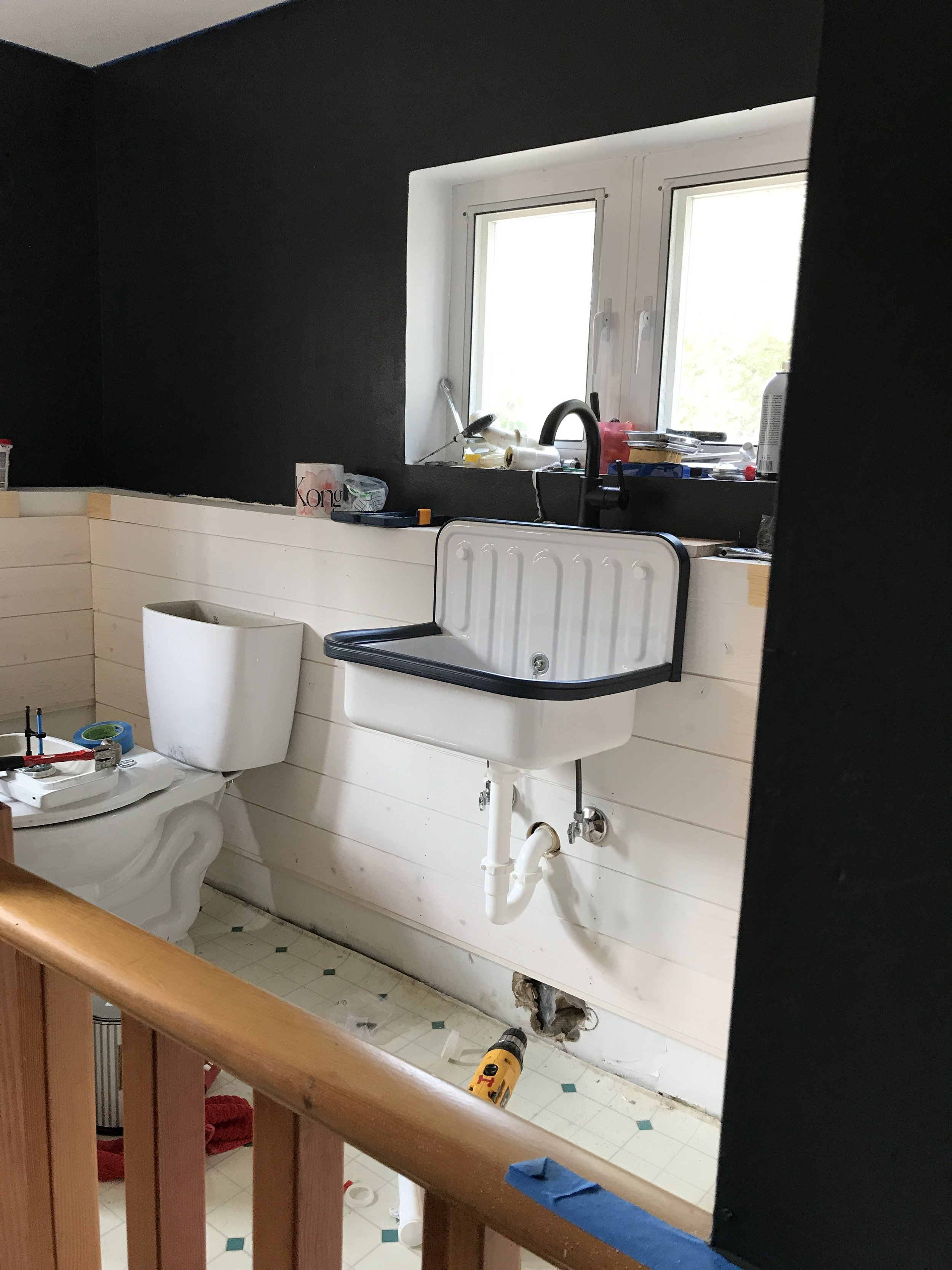 Project 8 1 Downdating The Guest Bath Installing A Faucet And The Alape Bucket Sink The Old Dockton Church