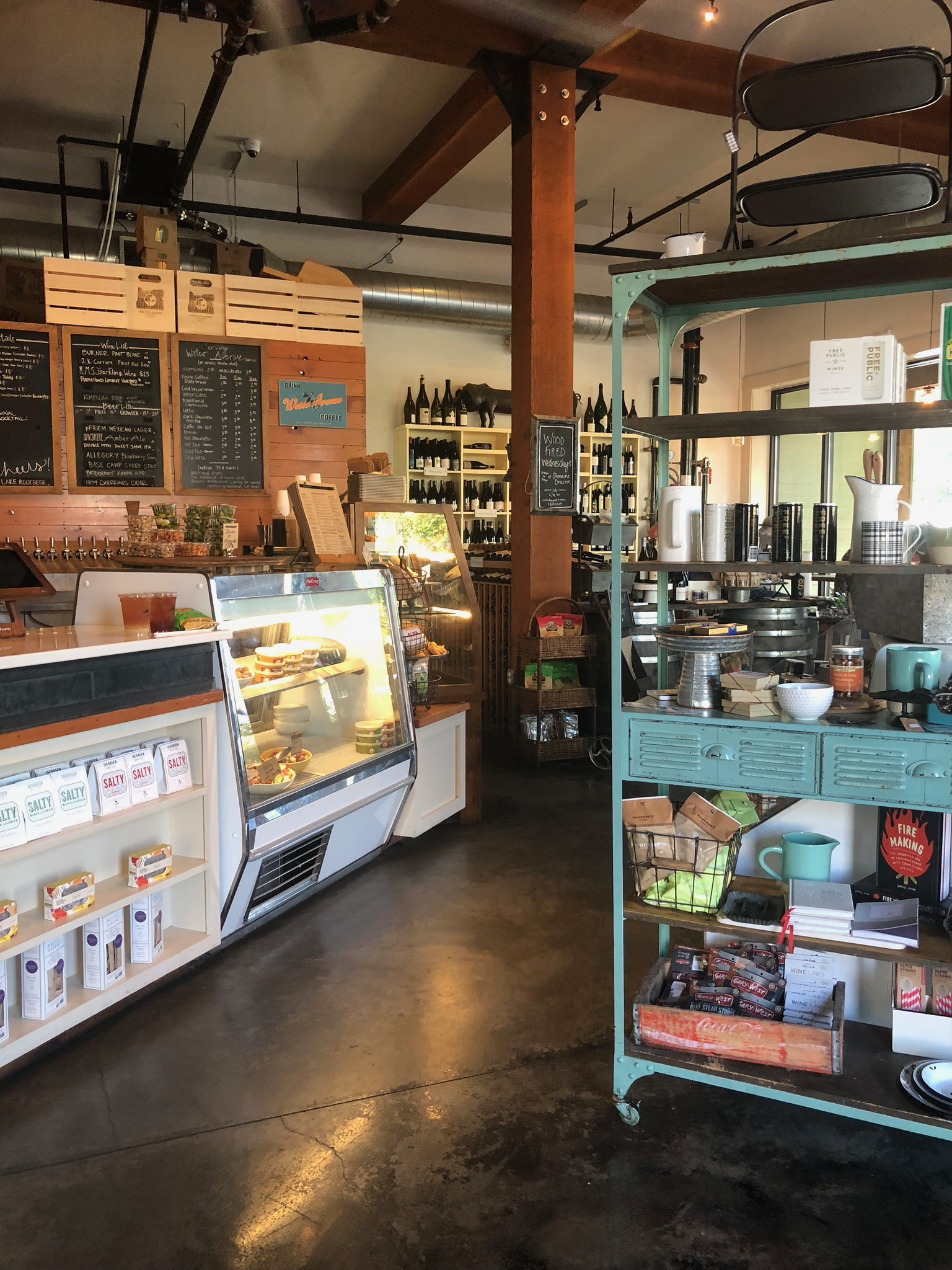 Market full of fun finds! - Whether your enjoying wonderful morning coffee with friends, packing up a picnic for an afternoon of wine tasting, grabbing a quick sandwich or shopping for a last minute gift this is the spot.