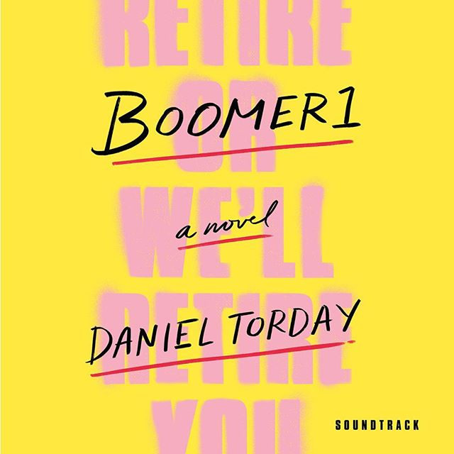 BOOMER1 novel by @danieltorday (soundtrack to which features new Color Bars song along with @drdogmusic @petermatthewbauer) drops tomorrow w/ a feature on @NPR @Studio360show and reviews in both @newyorktimes.city & @wallstreet_journal ! Look for it!