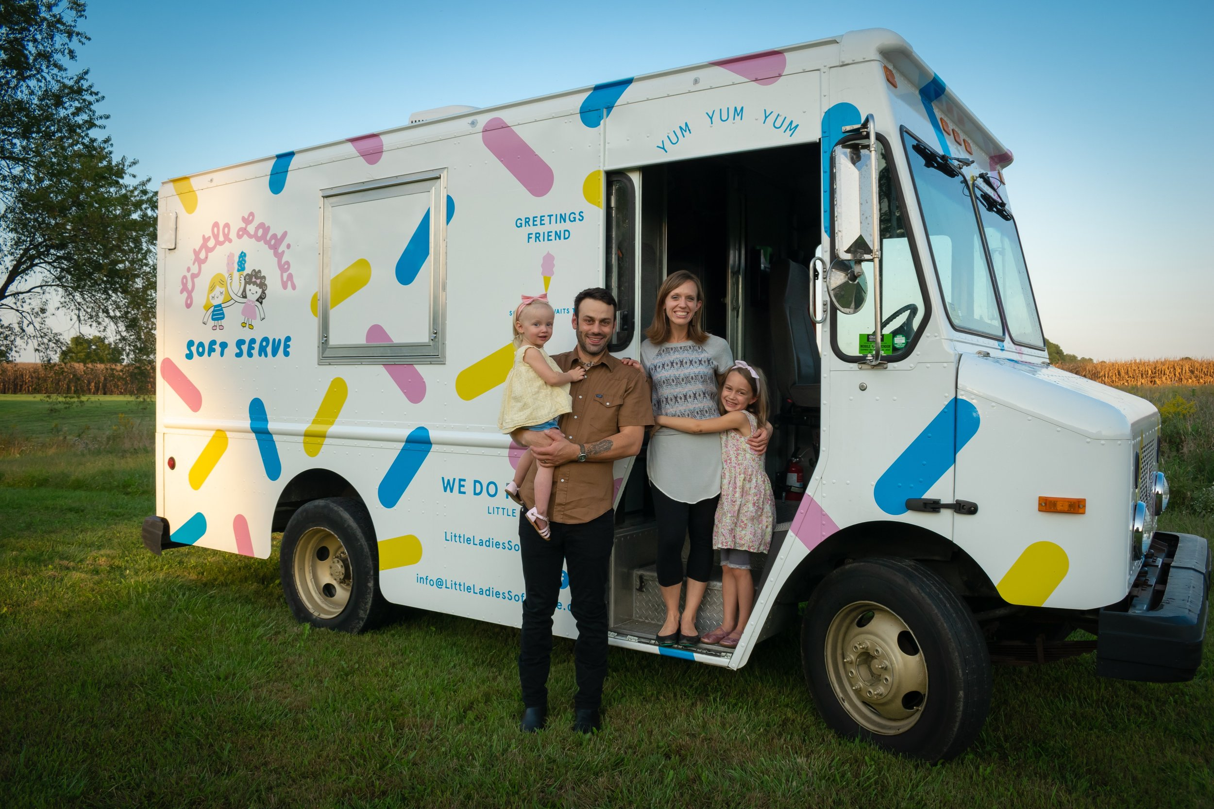 - The amazing thing? All our hard work paid off. In the summer of 2018, we opened Little Ladies Soft Serve, and ice cream has become a steady part of our family's diet.We have since joined a gym.