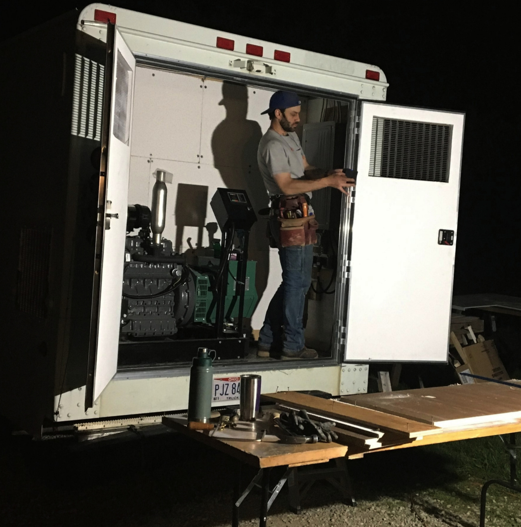 """- The postal service truck was a blank canvas.Since one of Will's life mottos is """"DIY or die,"""" he spent the following winter and spring converting it into an absolutely super soft serve truck."""