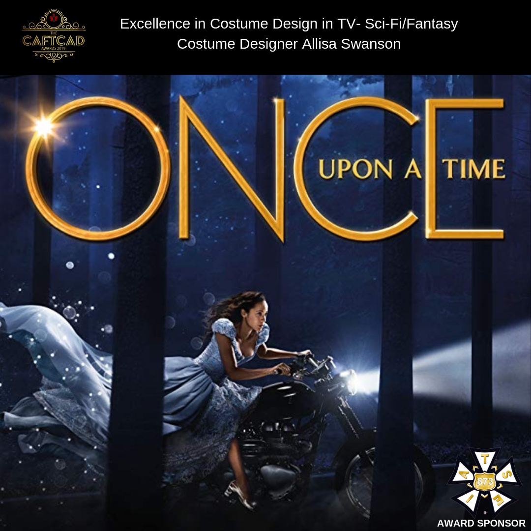 Once Upon a Time: 719 - Costume Designer: Allisa SwansonAssistant Designers: Charron Hume & Susan Davis, Set Supervisor: Jessica McCormick, Truck Costumer: Kai Siperko, Prep Costumers: Emily Laing, Nicole Bouthot & Miel Nicholson, Cutters: Alison Roy & Cathy Seiler, Seamstresses: Tricia Boyko, Sook Hyun Kim & Sandy Dunn, Breakdown & Dying Artists: Sophie Wallace & Jalisa Ocean