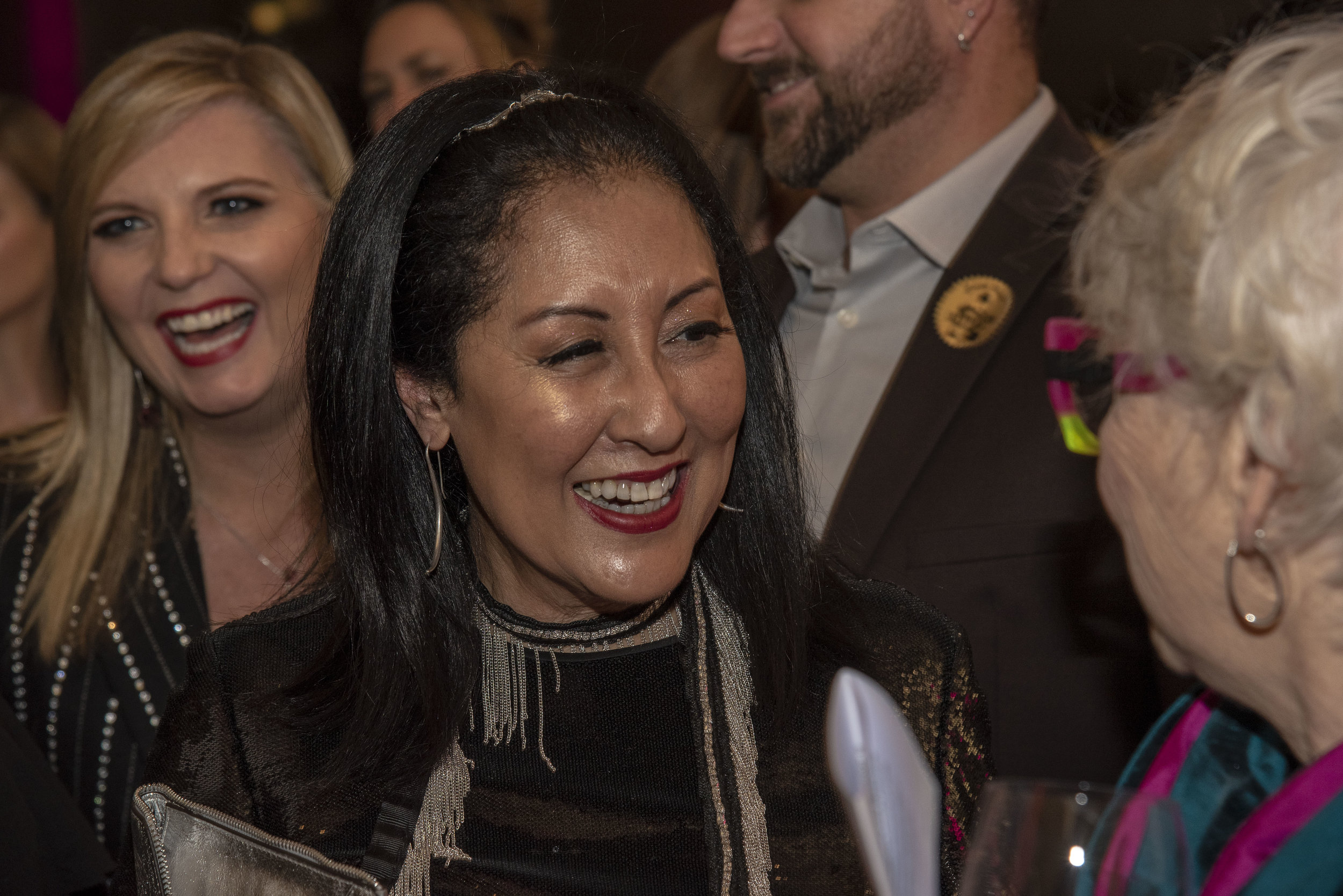 Loretta Chin (past president of CAFTCAD and current Bespoke editor) with Leslie Kavanagh behind her