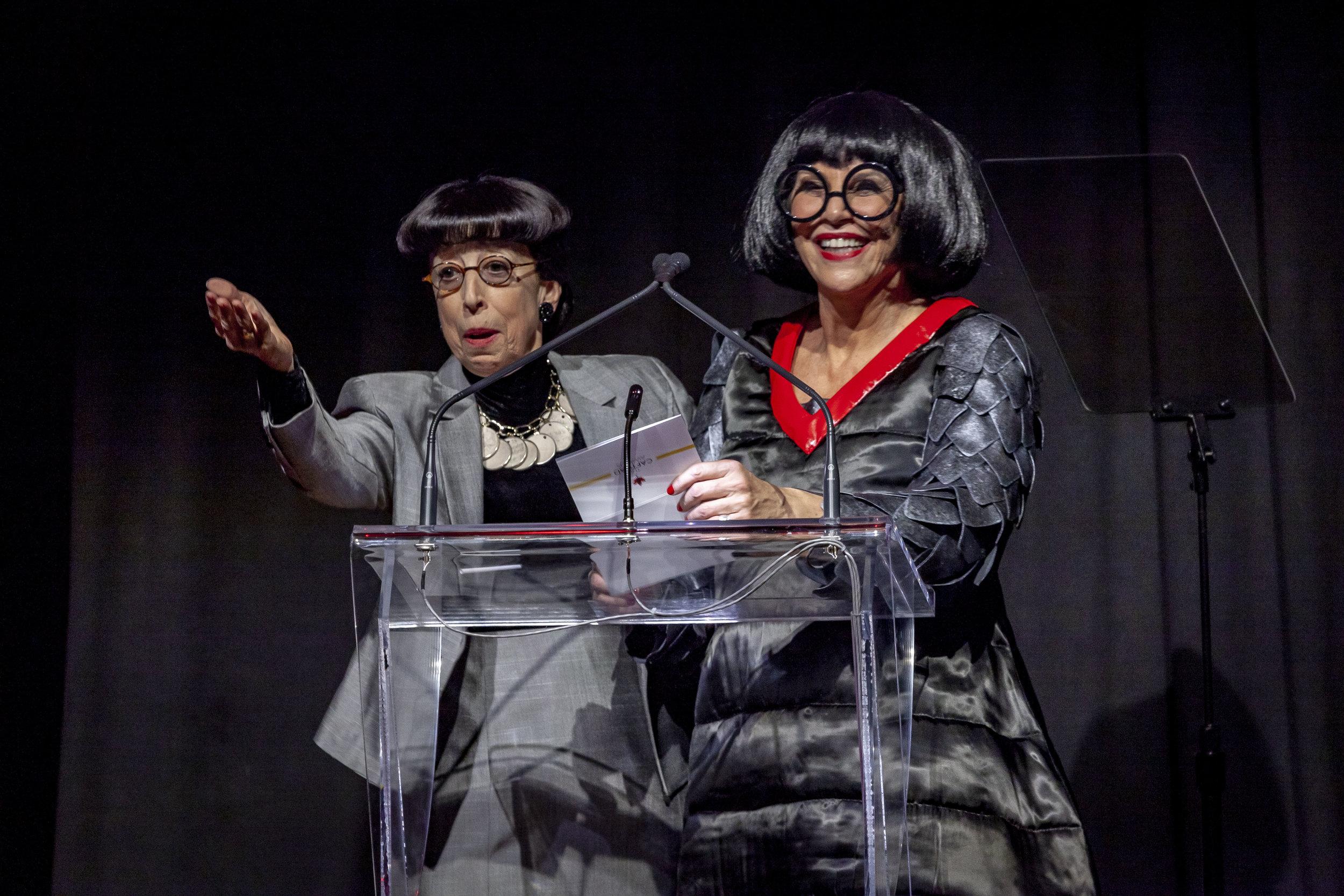 Susan Claassen as Edith Head and Cynthia Amsden as Edna Mode