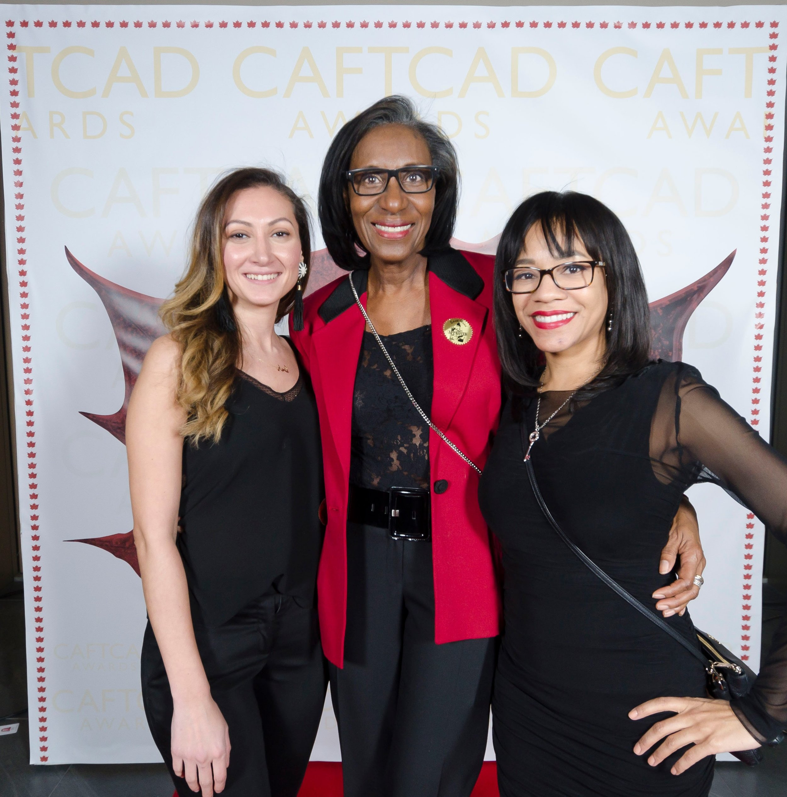 Ethar Ismail, CAFTCAD Voting Coordinator Iris Simpson and Brigette Boaretto