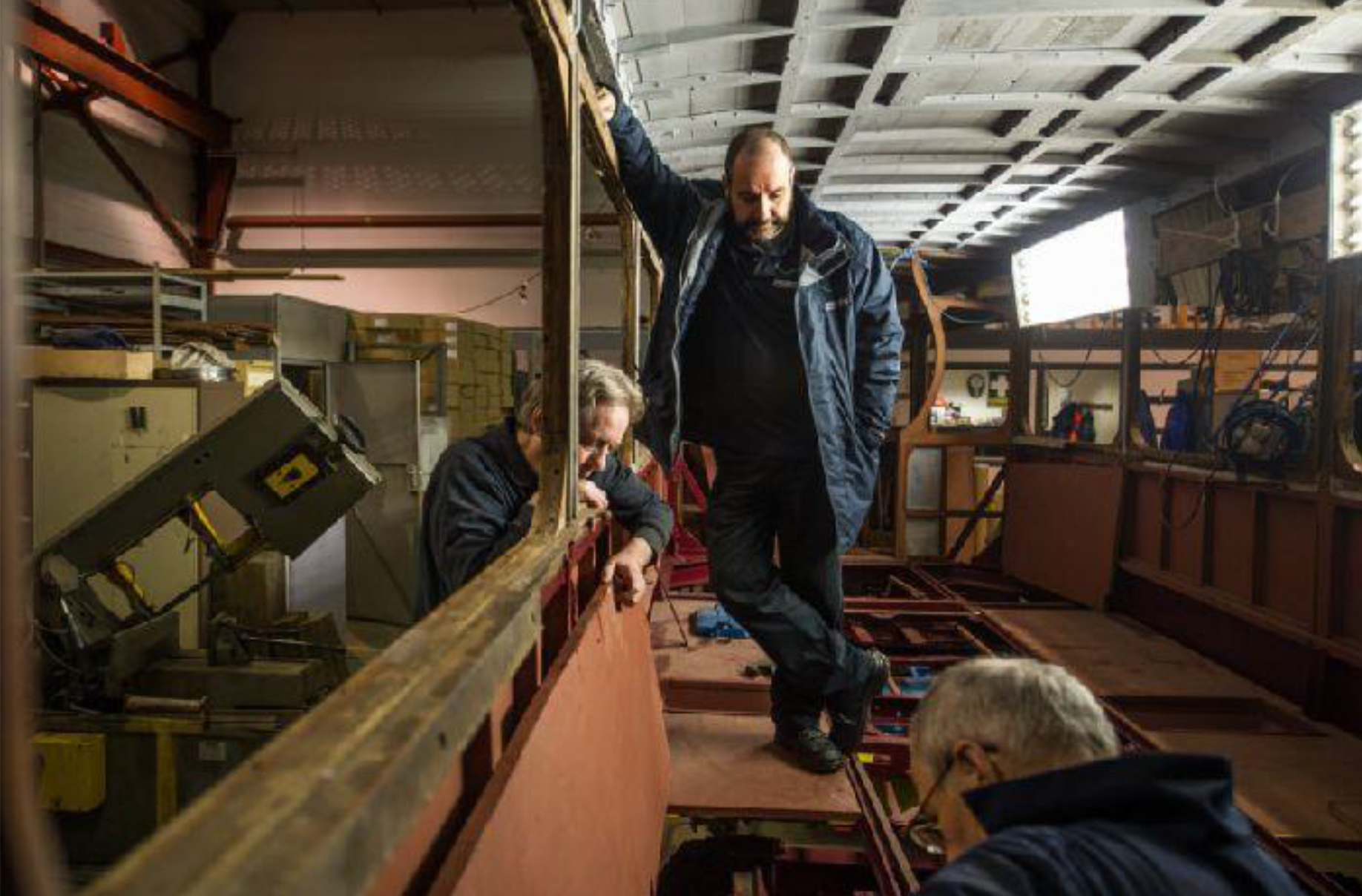 Retired engineers at Summerlee Museum of Scottish Industrial Life are restoring the tram to its former glory. Picture: John Devlin