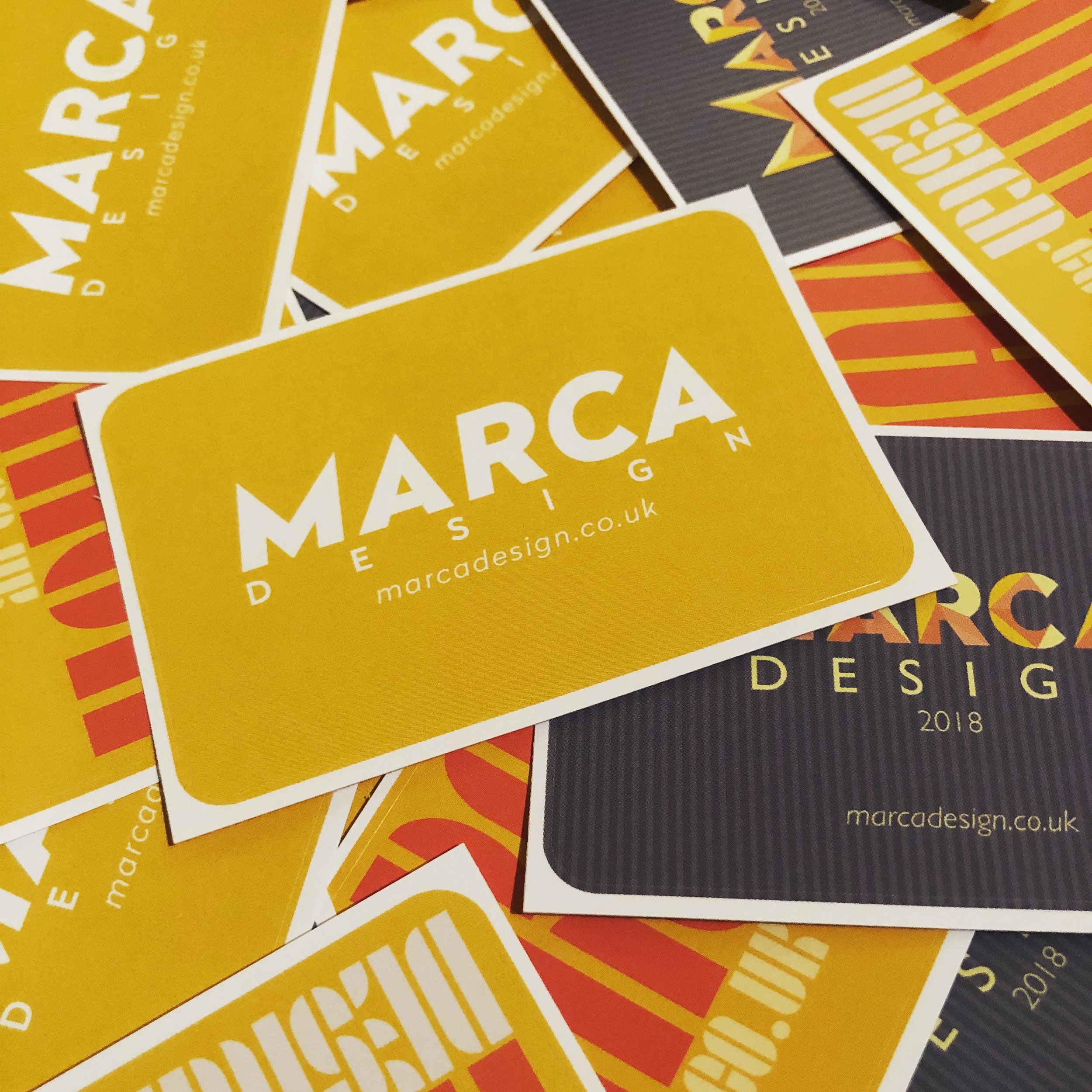 MARCA Design promotional stickers (2018)