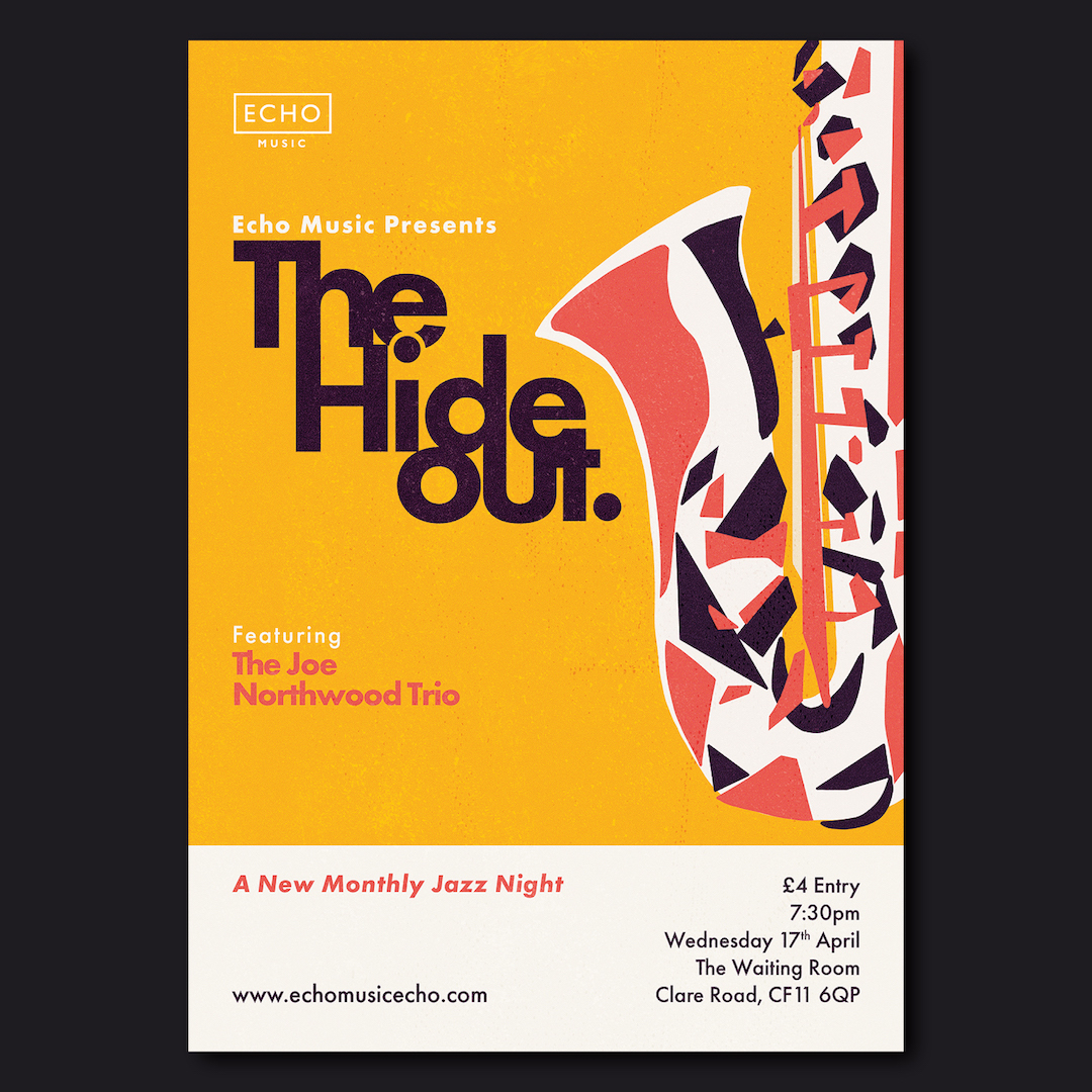 The Hideout Jazz Night Poster design