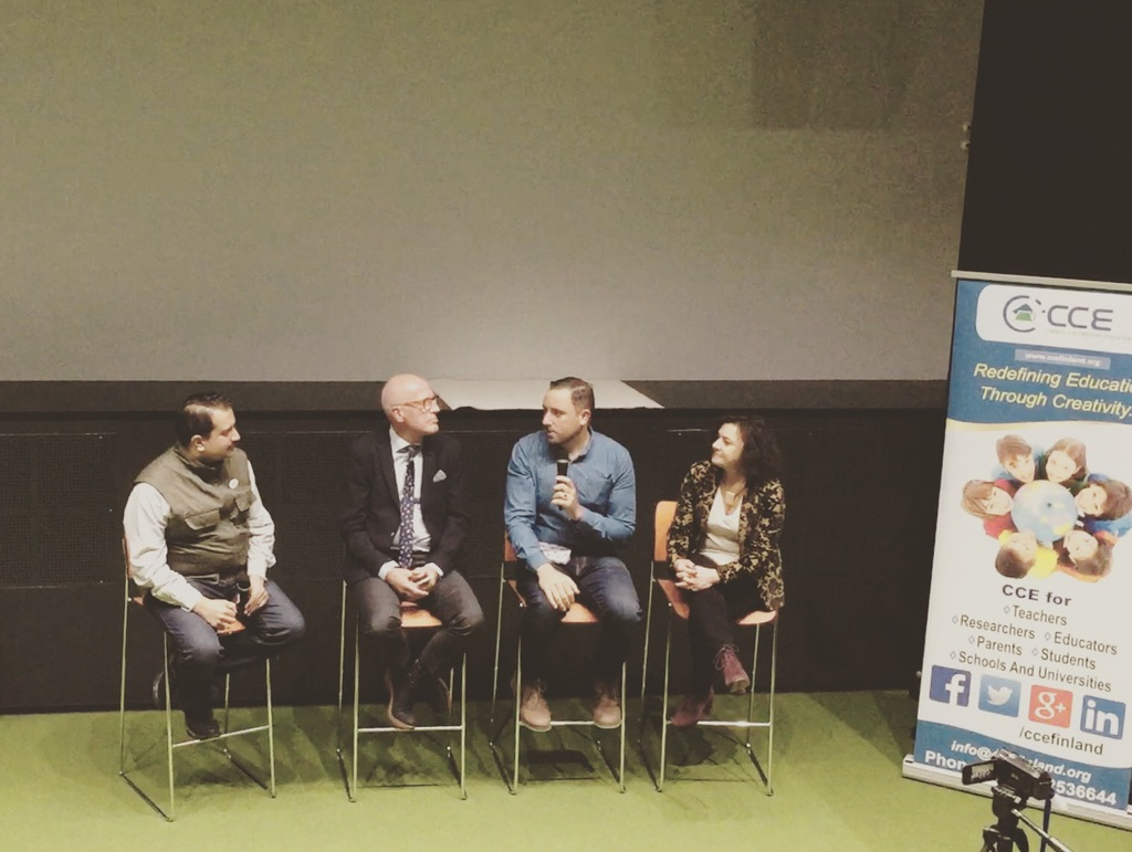 On the panel in Finland, CCE 2017