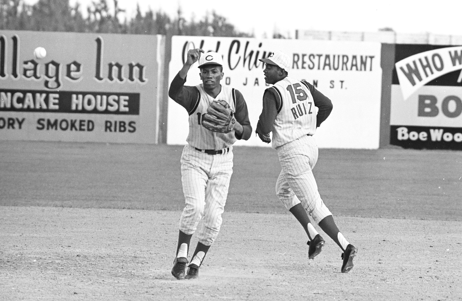 Leo Cardenas (left) and Chico Ruiz, spring training, 1965 - 1967.