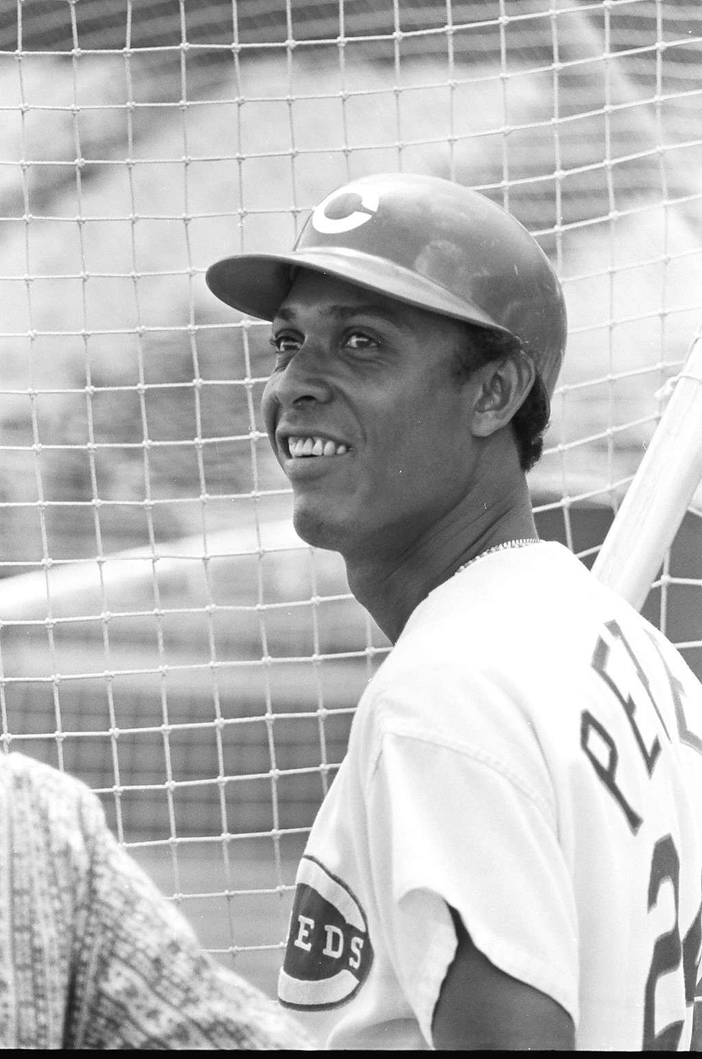 This is my favorite photo of Perez, 1968, 26 years old. He was just  coming off his breakout season of 1967, when he won the MVP of the  previous season's All-Star Game with his 15th-inning home run off  Catfish Hunter. He and wife, Pituka, had become parents in May 1966,  when Victor was born in Cincinnati.