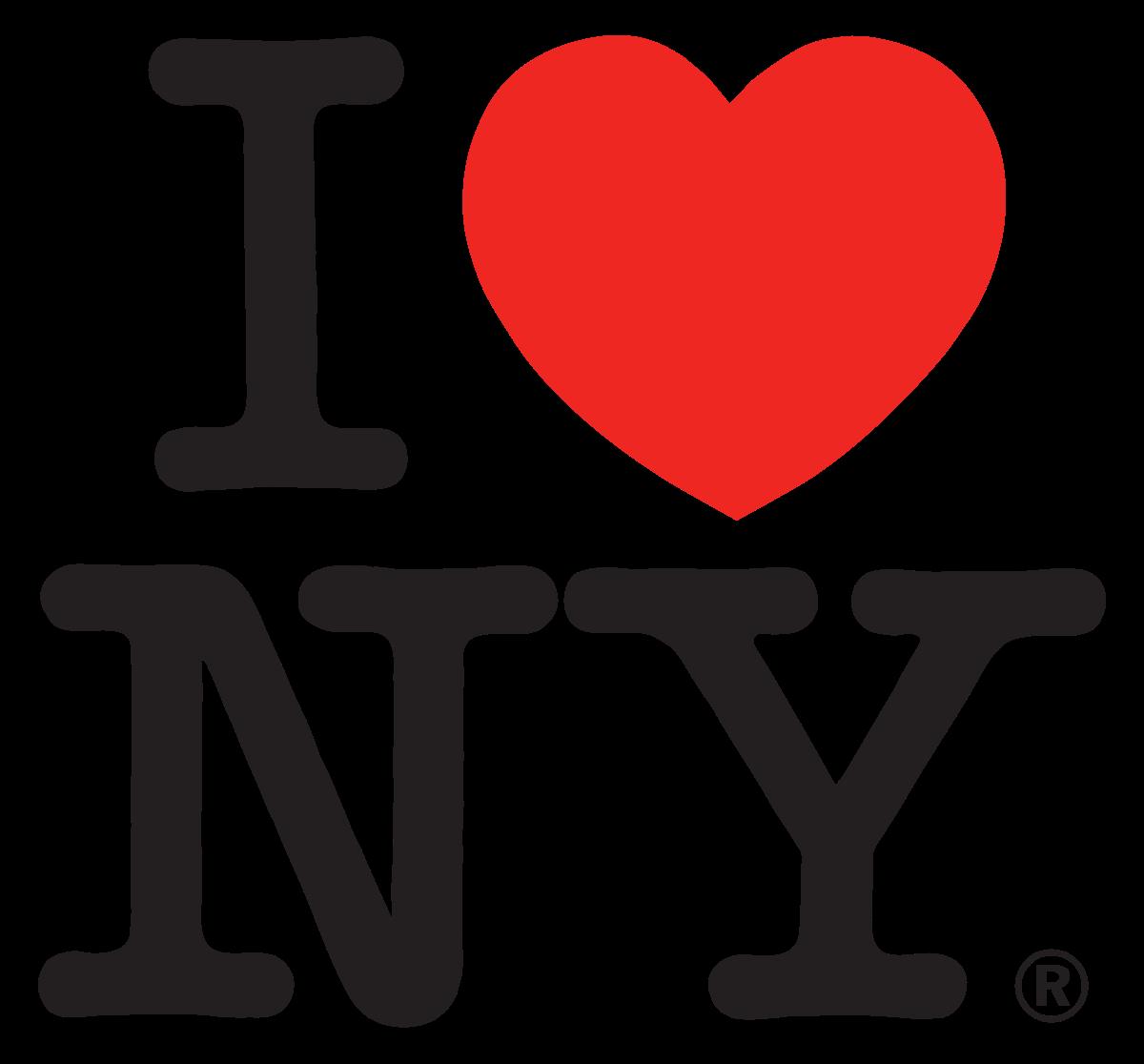 Milton's iconic I Heart NY logo design