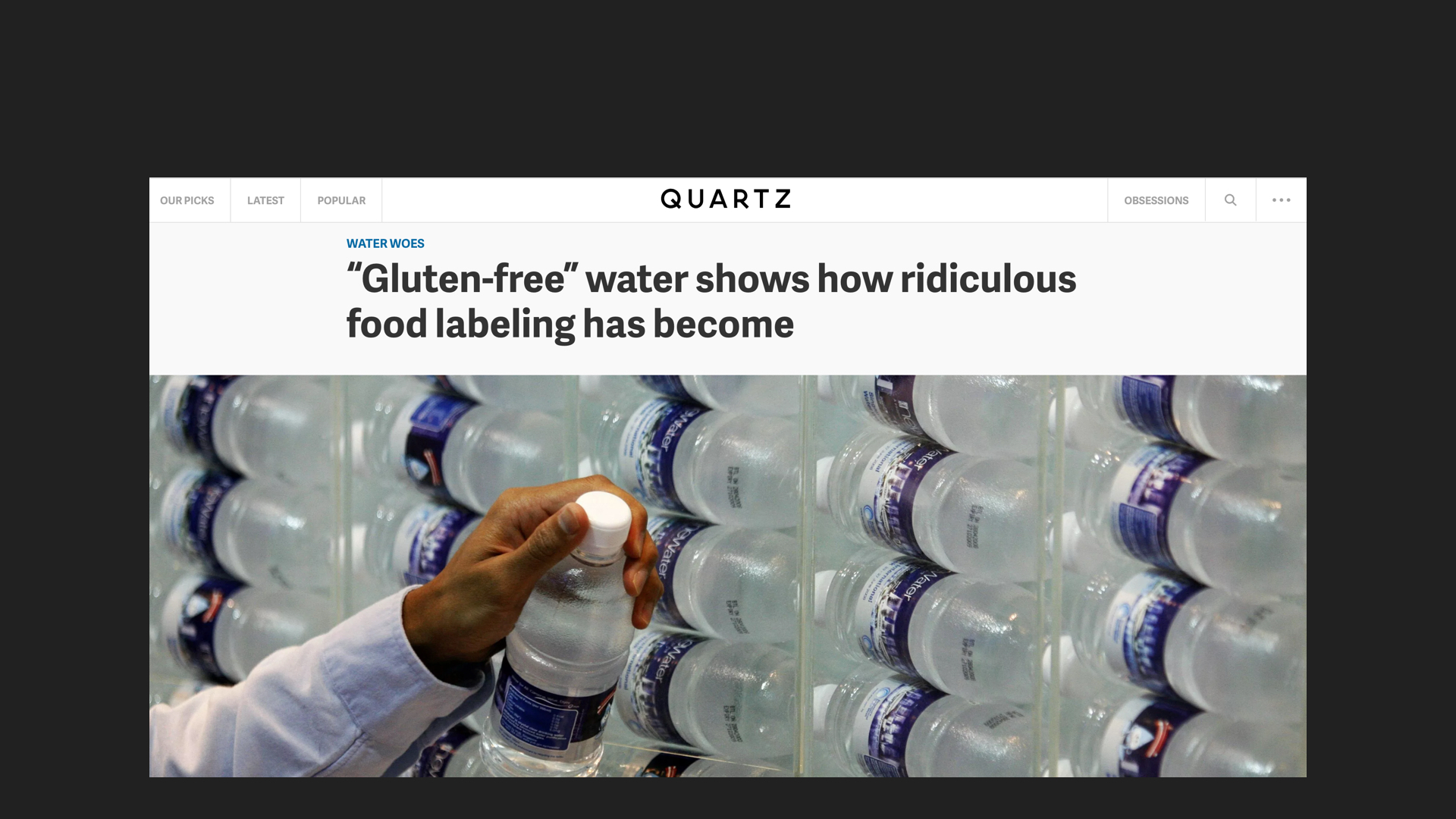 To a point where it has become meaningless. Does gluten-infused water even exist?